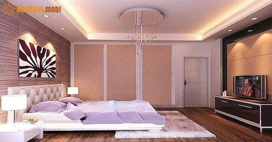 Phòng thủy đèn phòng ngủ treo trên trần