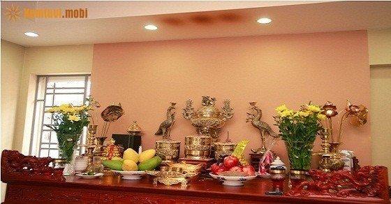 Cách bố trí đồ thờ, phòng thờ theo phong thủy trong nhà