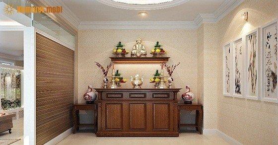 Cách đặt bàn thờ trong chung cư