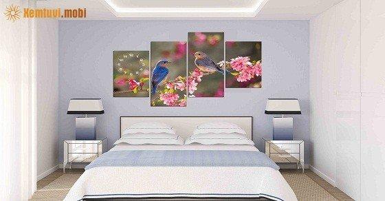 Chọn tranh phong thủy treo phòng ngủ theo tuổi thêm vượng khí