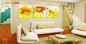 Sắp xếp vật phẩm, gương và tranh phong thủy trong phòng khách