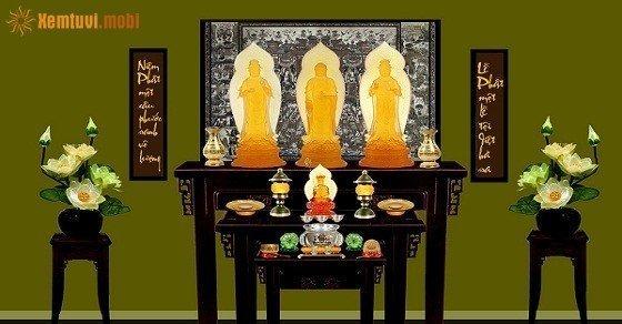 Phong thủy phòng thờ Phật
