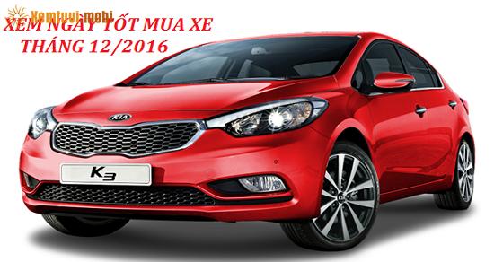 Chọn xem ngày tốt để mua xe tháng 12 năm 2016