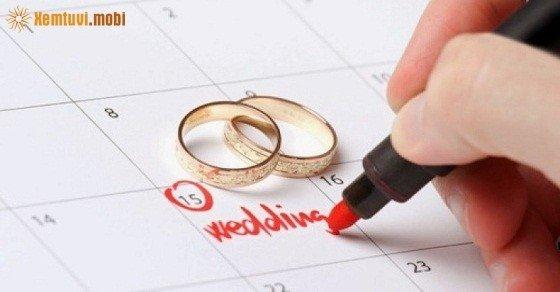 Xem ngày cưới hỏi tháng 10 năm 2016