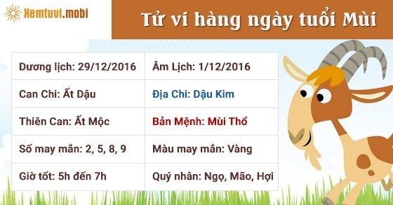 Tử vi ngày mới 12 con giáp thứ 5 ngày 29/12/2016