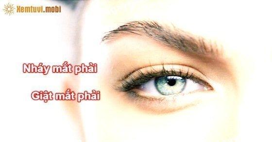 Giật mắt phải, nháy mắt phải có điềm gì?