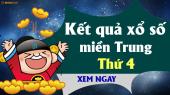 XSMT Thứ 4 - XSMT T4 - SXMT Thứ 4 - Xổ số miền Trung Thứ Tư hàng tuần