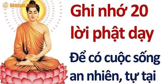 20 lời Phật dạy để an nhiên tự tại
