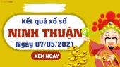 XSNT 7/5 - Xổ số Ninh Thuận ngày 7 tháng 5 năm 2021 - SXNT 7/5