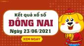 XSDN 23/6 - Xổ số Đồng Nai ngày 23 tháng 6 năm 2021 - SXDN 23/6
