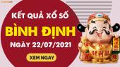 XSBDI 22/7 - Xổ số Bình Định ngày 22 tháng 7 năm 2021 - SXBDI 22/7
