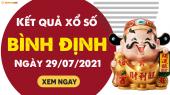XSBDI 29/7 - Xổ số Bình Định ngày 29 tháng 7 năm 2021 - SXBDI 29/7