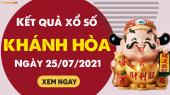 XSKH 25/7 - Xổ số Khánh Hòa ngày 25 tháng 7 năm 2021 - SXKH 25/7