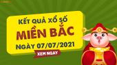 XSMB 7/7 - SXMB 7/7 - KQXSMB 7/7 - Xổ số miền Bắc ngày 7 tháng 7 năm 2021