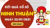 XSNT 23/7 - Xổ số Ninh Thuận ngày 23 tháng 7 năm 2021 - SXNT 23/7