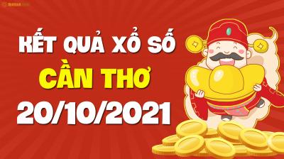 XSCT 20/10 - Xổ số Cần Thơ ngày 20 tháng 10 năm 2021 - SXCT 20/10