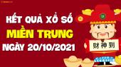 XSMT 20/10 - SXMT 20/10 - KQXSMT 20/10 - Xổ số miền Trung ngày 20 tháng 10 năm 2021