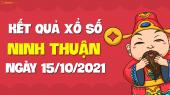 XSNT 15/10 - Xổ số Ninh Thuận ngày 15 tháng 10 năm 2021 - SXNT 15/10