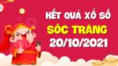 XSST 20/10 - Xổ số Sóc Trăng ngày 20 tháng 10 năm 2021 - SXST 20/10